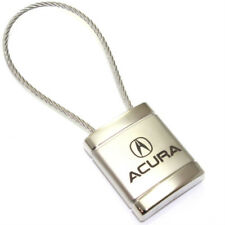 Acura Logo Metal Silver Chrome Cable Car Key Chain Ring Fob