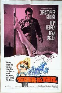 Tiger by the Tail 1969 Christopher George, sexy Tippi Hedren Original US Poster