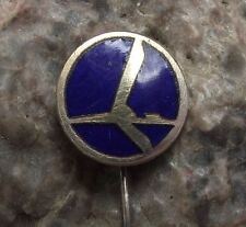 Antique LOT Poland Polish Airlines Polskie Linie Lotnicze Aircraft Pin Badge
