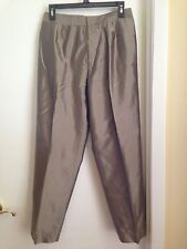 INC International Concepts Champagne Silk Dress Pants Fully Lined Petite 8