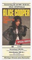 Alice Cooper   In Concert 1990   Ticket / Konzertkarte / Eintrittskarte