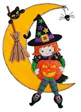 """Witching Moon Wall Hanging, 15"""" x 21.5"""", Felt Applique Kit- 86829 **NEW**"""