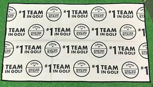 "Callaway Golf Masters Staff Towel NEW 34.5""x20""  White Black"