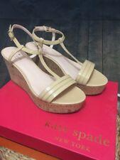 NIB $150 Kate Spade 'Tallin' Powder Tan Patent Sandals, Size 11