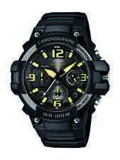 Casio Men's Quartz Chronograph Yellow Accent Black Resin 49Mm Watch Mcw100h-9Av