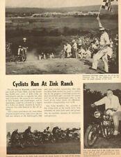 1964 Motorcycle Run at Zink Ranch, Tulsa, OK - 1-Page Vintage Article