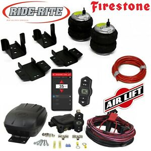 Firestone Ride Rite Bags AirLift Air Compressor for 08-18 Silverado Sierra 1500