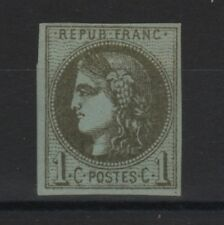 """FRANCE STAMP TIMBRE YVERT N° 39 """" CERES BORDEAUX 1c OLIVE """" NEUF x TB SIGNE T197"""