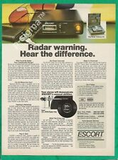 ESCORT Radar Warning Receiver - 1983 Vintage Print Ad