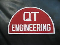 """Q T ENGINEERING EMBROIDERED SEW ON PATCH UNIFORM ADVERTISING 3 3/4"""" x 3"""""""