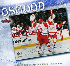 "CHRIS OSGOOD Signed & Inscribed ""400th Win 12/27/10"" 16x20 Photo - Detroit"