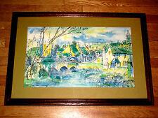 Rare Vintage Signed J C KAY LOTSWOOD Watercolor Painting van rijn ind. Rembrandt