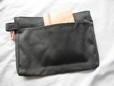 MUJI LARGE BLACK CANVAS COSMETIC STATIONARY TRAVEL BAG CARRY CASE