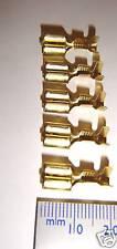 "Female 6.3mm (1/4"") spade terminal + loquet (pack de 10)"