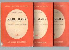 Cornu A.; KARL MARX l'uomo e l'opera ; in 3 volumi ; La Nuova Biblioteca 1945
