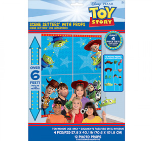 Toy Story Scene Setter with 12 Photo Props - Toy Story Party Supplies