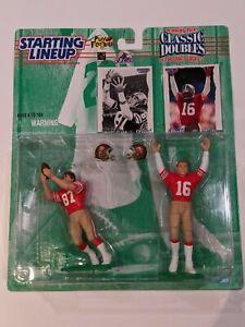 1997 NFL Starting Lineup Classic Doubles Dwight Clark Joe Montana 49ers Football