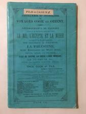 Thomas Cook 1879 Middle East & Africa Tour Guide Maps Asia Palestine Egypt Nile