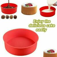 4inch Silicone Round Cake Mold Bread Muffin Pan Bakeware Mould Baking Tray Tool