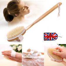 Baño Ducha Cuerpo Cepillo Espalda Limpiador Mango madera largo Balneario cerda