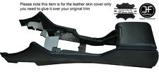 BLUE STITCHING CENTRE CONSOLE & ARMREST LEATHER COVERS FITS BMW E39 1996-2003