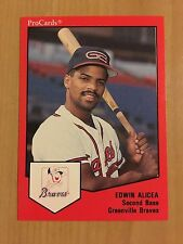 1989 Greenville Braves ProCards #1156 Edwin Alicea - NM-MT
