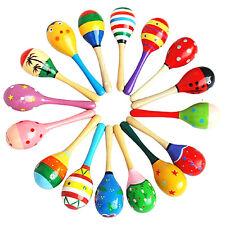 Maraca Hochet Sable Percussion Bois Instrument Musique Pour Bébé Enfant Jeux Toy