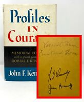 John F Kennedy JFK - Profiles in Courage - SIGNED by 4 Kennedy Family inc TED