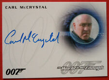 JAMES BOND - The World Is Not Enough - CARL McCRYSTAL, Trukhin, Autograph - A260