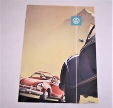 VW SALES BROCHURE DE LUX SEDAN SUN-ROOF CONVERTIBLE Volkswagen GERMANY