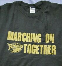 Leeds Rhinos Marching on Togther Quality Cotton T - Shirt Size Large