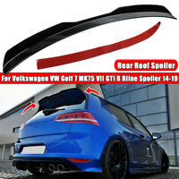 Rear Roof Spoiler Wing Glossy For Volkswagen VW Golf 7 MK75 VII GTI R Rline