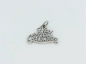 James Avery Very Special Grandmother Charm Sterling Silver Uncut Loop