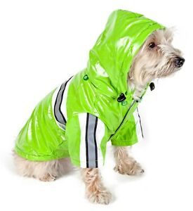 Pet Life Reflecta-Glow Reflective Waterproof Adjustable PVC Pet Dog Cat Raincoat