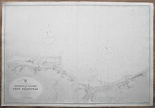 1838-1921 FRANCE ASNELLES TO VILLERS CAEN ROADSTEAD VINTAGE ADMIRALTY CHART MAP
