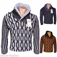 BLACKROCK JEEL Herren Strickjacke Warme Grobstrick Winterjacke Pullover Pulli