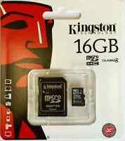 Genuine Kingston 16GB Micro SD Card and Adaptor for Samsung Galaxy S3 S4 S5 Mini