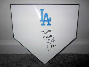 JULIO URIAS Pitcher Los Angeles Dodgers SIGNED Home Plate Base w/ COA