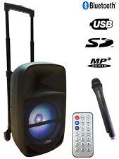 "Mobile Akku Box Sound Anlage ""PARTY-MEETY10"" Funk Mikro, LED, SD, USB, Bluetooth"