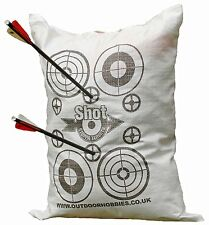 Archery Target Crossbow FILL YOURSELF BAG 45x60cm Stops Crossbow bolts at 10ft!