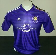 Adidas Orlando City Youth Home Jersey, Purple/White, Size YXL