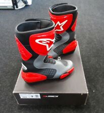 ALPINE STARS GPS-3 MOTORCYCLE BOOTS RED SIZE 41
