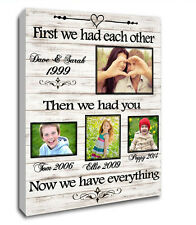 "16""X20"" CANVAS PERSONALISED FAMILY GIFT FIRST WE HAD EACH OTHER CHRISTMAS XMAS"