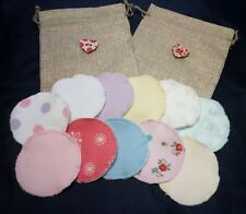 Reusable Makeup Remover Pads With Soft Plush Bamboo Terry Towelling Backing.