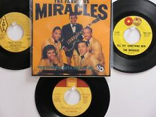LOT OF 4 THE MIRACLES HIT 45's+1P(Copy)[You Really Got A Hold On Me]  THE 60's!