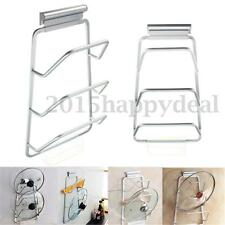 3 Layers Over Door Cupboard Pot Pan Lid Storage Rack Holder Organizer Kitchen UK