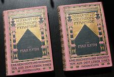 Band 1+2 Der Kampf um die Cheops-Pyramide gebunden 1908 von Max Eyth alt-deutsch