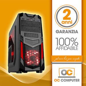 PC COMPUTER DESKTOP INTEL QUAD CORE/HD 1TB/RAM 8GB/ASSEMBLATO COMPLETO FISSO