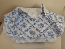 Longaberger Large Oval Waste Basket Cottage Trellis Fabric Over Edge Liner