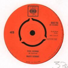 "Marty Robbins(2nd State 7"" Vinyl)Devil Woman / April Fools Day-CBS-AAG -Ex/Ex-"